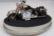 Fossil Motorcycle Desk Clock Novelty Collectible Roadster Style Biker