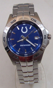 Indianapolis Colts Watch Fossil Mens Three Hand Date Defender Watch