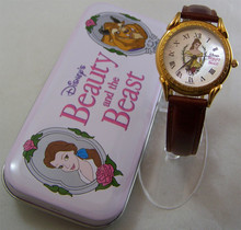 Beauty and the Beast Watch Disney Womens Mother of Pearl Wristwatch