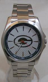 Green Bay Packers Watch Avon Mens Three Hand Silver Tone Wristwatch