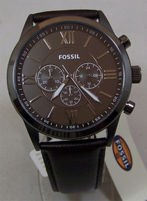 Fossil Mens Chronograph Watch Chocolate Brown Wristwatch