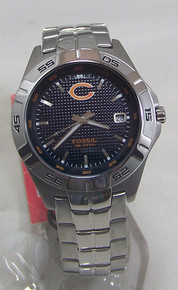 Chicago Bears Fossil Watch Mens Three Hand Date Wristwatch