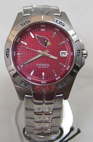 Arizona Cardinals Fossil Watch Mens Three Hand Date Wristwatch NFL1117