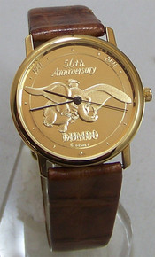 Walt Disney Dumbo Watch 50th Anniversary Gold Mens Pedre LE Wristwatch