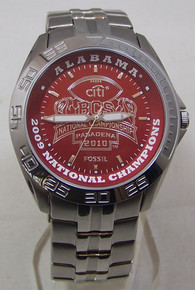 Alabama Crimson Tide Fossil Watch Mens 2009 BCS Champions Wristwatch