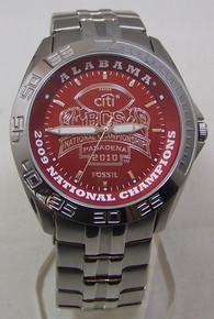 Alabama Crimson Tide Fossil Watch Mens 2009 BCS Champions Wristwatch