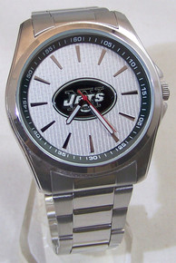 New York Jets Watch Avon Release Mens 3 Hand Silver Wristwatch