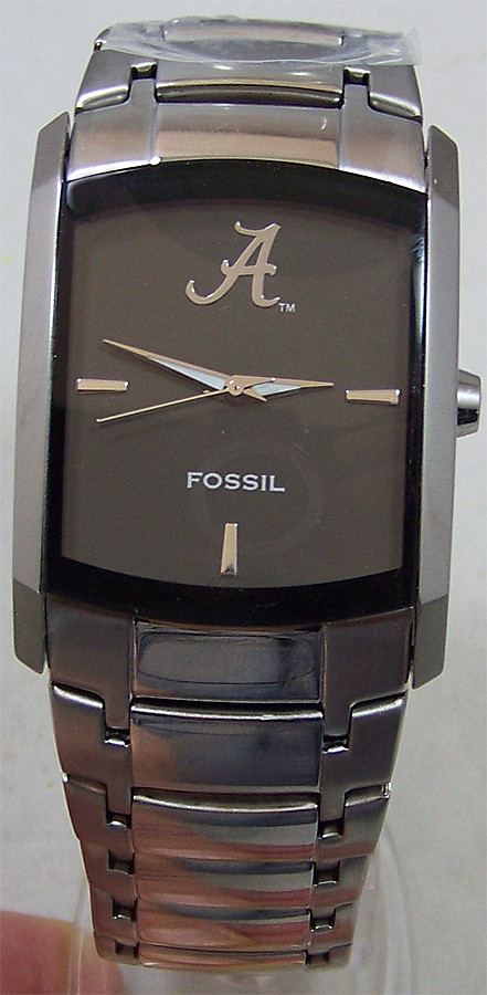 Alabama Crimson Tide Fossil Watch Mens Dress Regis Li2797
