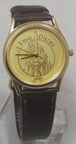 Euro Disney Watch 1992 Apollo Gold Tone Commemorative Wristwatch LE