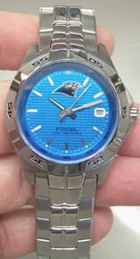 Carolina Panthers Fossil Watch Mens Three Hand Date Wristwatch NFL1084