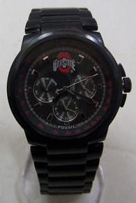Ohio State Buckeyes Fossil Watch Mens Multifunction Black IP LI2705