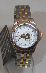 St Louis Rams Watch Game Time Gold Logo Womens Wristwatch