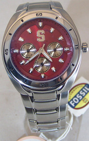 Stanford University Fossil Watch Mens Multifunction SS Wristwatch