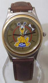 Walt Disney Watch Fossil Pluto Mickey Mouse Dog Rotating Bone Vintage