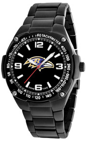 Baltimore Ravens Watch Mens Black SS Game Time Gladiator Wristwatch