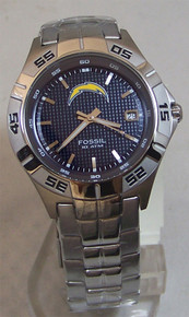 NLF LA Chargers Fossil Watch Mens Three Hand Date Wristwatch