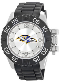 Baltimore Ravens Watch Game Time Beast Mens Black Wristwatch NFL-BEA-BAL