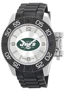 NY New York Jets Watch Game Time Beast Mens Black Wristwatch NFL