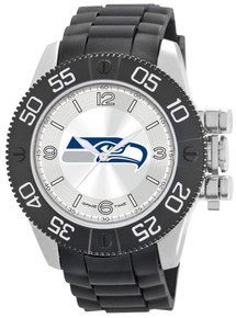 Seattle Seahawks Watch Game Time Beast Mens Black NFL Team Wristwatch
