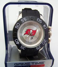Tampa Bay Bucs Watch Game Time Beast Mens Buccaneers Black Wristwatch