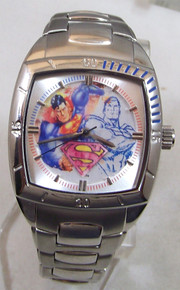 Fossil Superman Street Watch in Art Display DC Comics LE
