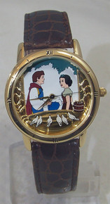 Snow White Watch Set with Wooden Music box Disney Lmt. Ed. Collectible