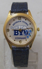 BYU Brigham Young Watch Sun Time Rotating Cougar Paws Wristwatch