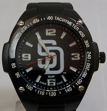 San DIego Padres Watch Mens MLB Black Stainless Gladiator Wristwatch