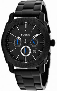 Fossil Watch Mens Black Machine Collection Chronograph Wristwatch New
