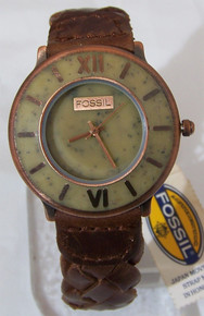 Fossil Vintage Watch Stone and Copper Wristwatch BW6782 New