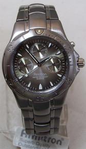 Armitron Mens Titanium Watch Lightweight Gray Multifunction Wristwatch