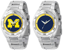 Michigan Wolverines Fossil Watch Mens Flashing Logo Kaleido Wristwatch