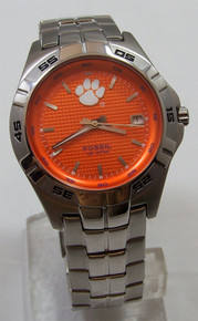 Clemson Tigers Fossil Watch. Mens Three Hand Date Wristwatch li2734