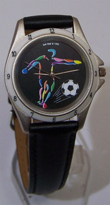 Soccer Football Watch Soccer Themed Action Colorful Wristwatch Vintage