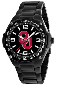 Oklahoma Sooners Watch Mens Black Stainless Gladiator Wristwatch New