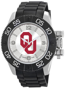 Oklahoma Sooners Watch Mens Game Time Black Beast Wristwatch New