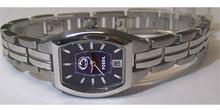 Penn State Fossil Watch Womens Ladies Three Hand Date Wristwatch