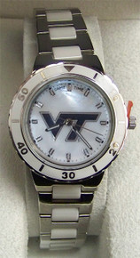 Virginia Tech MOP Watch Womens Mother of Pearl Game Time Wristwatch