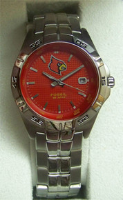 Louisville Cardinals Fossil Watch Mens Three Hand Date Wristwatch