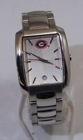 Georgia Bulldogs Watch Fossil Mens Dress Wristwatch with Date Display
