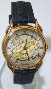 Fossil Classic Car Watch Antique 50s Hot Rod Convertible Wristwatch