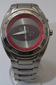 San Francisco 49ers Fossil Watch Mens Flashing Team logo Wristwatch