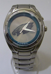 Philadelphia Eagles Fossil Watch Mens Flashing Team logo Wristwatch, New