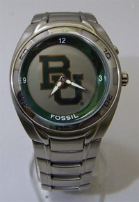 Baylor University Bears Fossil Watch Flashing Team logo Men Wristwatch