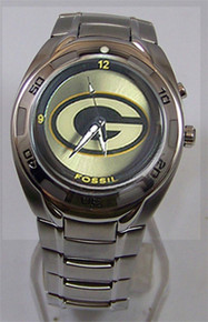 Green Bay Packers Fossil Watch Mens Flashing logo Kaleido Wristwatch