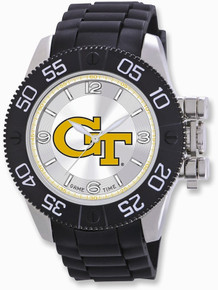 Georgia Tech Bulldogs Watch Mens Game Time Black Beast Wristwatch New