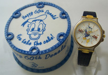 Donald Duck Watch 60th Birthday Cake Animated Disney Wristwatch