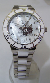 Kansas Jayhawks Pearl watch Game Time Ladies MOP Wristwatch New