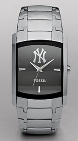 New York Yankees Fossil watch Mens Dress Regis Stainless wristwatch