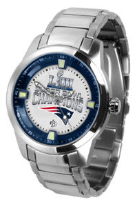 New England Patriots Super Bowl 53 LIII Watch Mens Game Time Titan SS